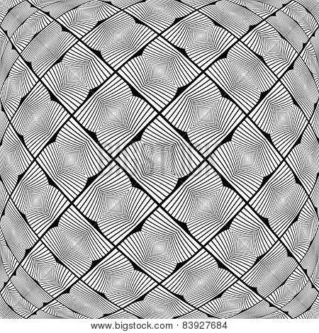 Design Warped Monochrome Geometric Pattern