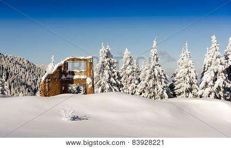 Mountain hut ruins