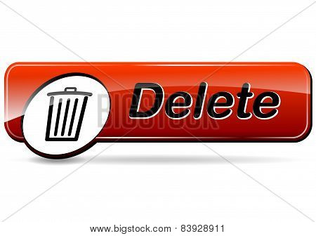 Delete Red Web Design Button