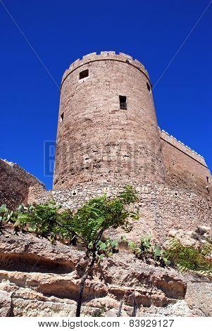 Almeria castle tower.