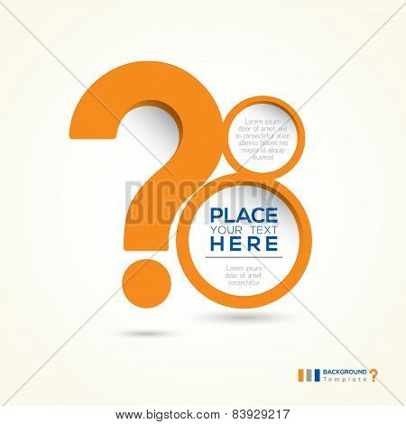 Question Mark Abstract Design Layout