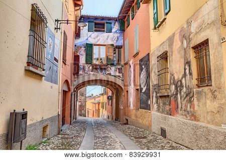 Paintings On The Walls In Dozza, Italy