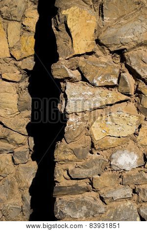 Stone Wall And Shadow