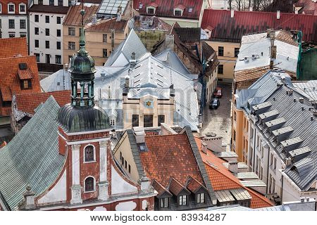 View Of Synagogue In Riga