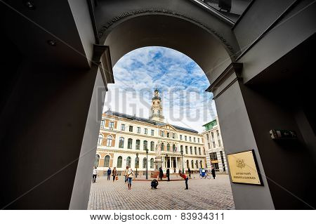 City Hall In Arch, Riga