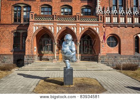 Sculpture Of Fat Woman In Riga