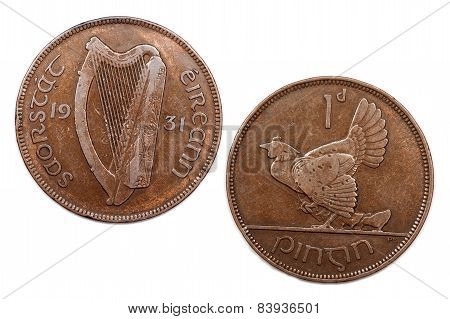 One Penny from Ireland dated 1931