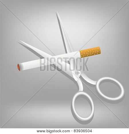 Cigarette And Scissors