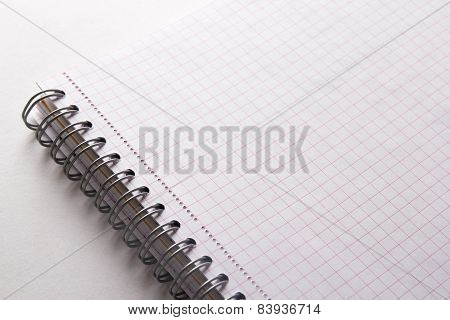Close Up Of Note Book With Checked Pages