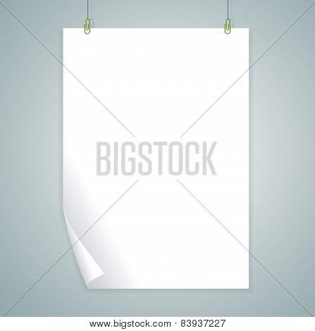 Vector white blank. Flat Design