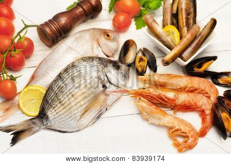 Raw Seafood  Selection