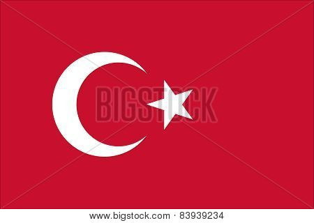 The Official Flag Of The Republic Of Turkey