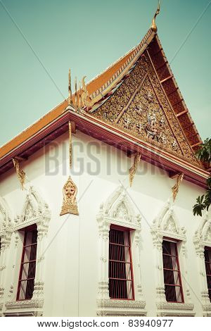 Typical Buddhist Monastery Roof, Thailand