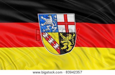 3D Saarland Flag