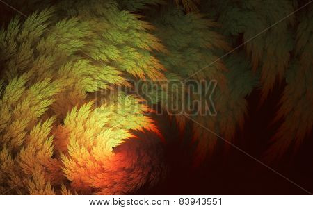 Decorative Yellow-red Juniper Branches