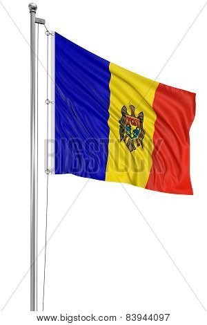 3D Moldavian flag
