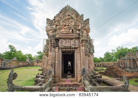 Phanom Rung Historical Park, Sand Stone Castle In Buriram, Thailand.