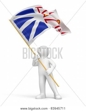 Man and flag of Newfoundland and Labrador (clipping path included)