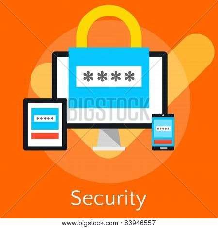Flat Design Vector Illustration Concepts For Data Security And Internet Security