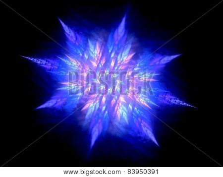Colorful Glowing Fractal In Space