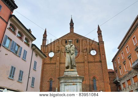 Church of St. Francesco. Piacenza. Emilia-Romagna. Italy.