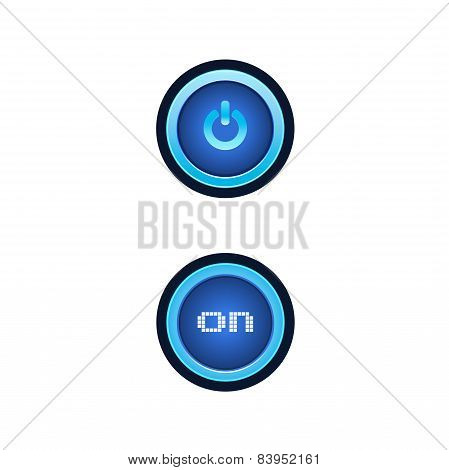 Buttons With Blue Backlight.