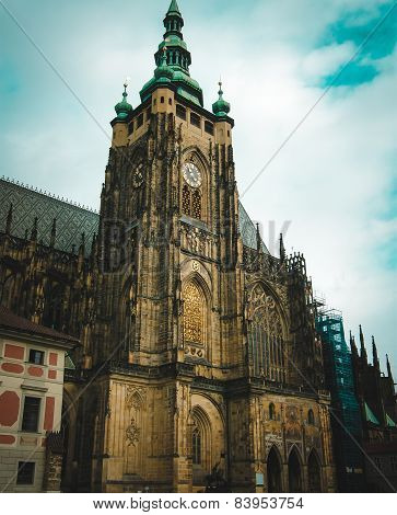 View of St. Vitus Cathedral in Prague, Czeh republic