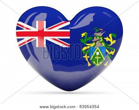 Heart Shaped Icon With Flag Of Pitcairn Islands