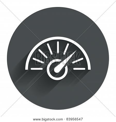 Tachometer sign icon. Revolution-counter symbol.