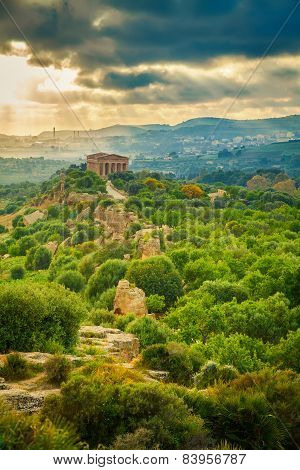 Valley Of Temples Near Agrigento