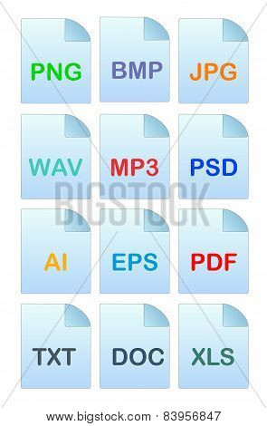 Set Of Icons For File Manager