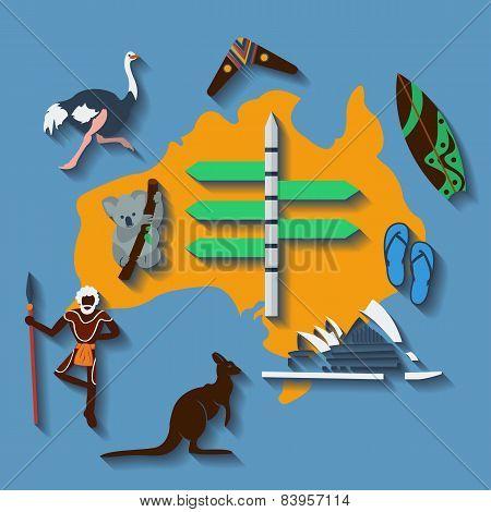 Vector australia travel
