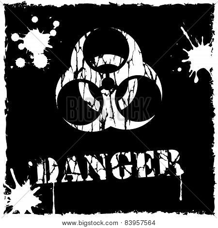 Vector biohazard icon black and white