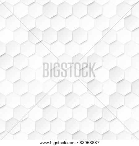 Abstract geometric background with hexagons.