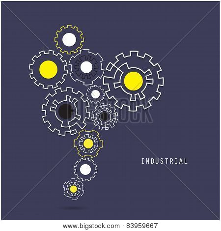 Creative Gear Abstract Vector Design Banner Template. Corporate Business Industrial Creative Logotyp