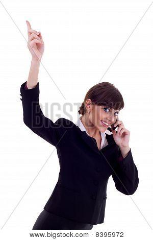 Woman On The Phone Winning
