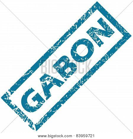 Gabon rubber stamp