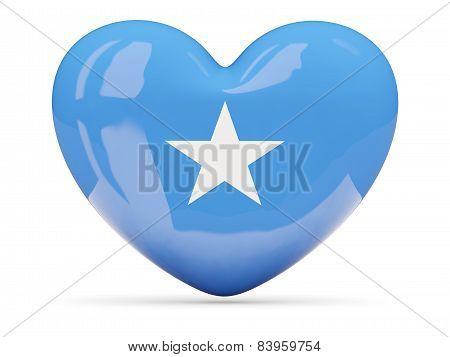 Heart Shaped Icon With Flag Of Somalia