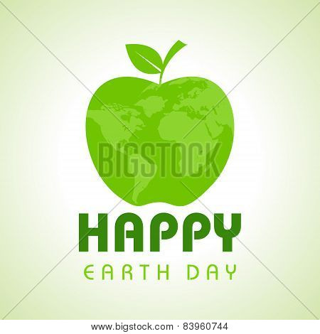Creative Happy Earth Day Greeting stock vector