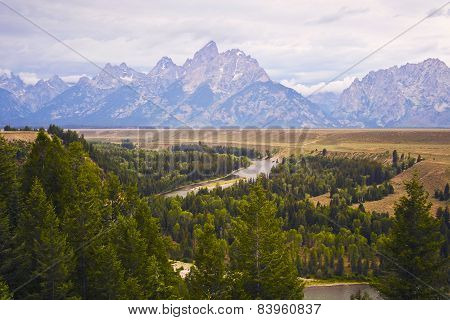 The Grand Tetons And Snake River, Wyoming