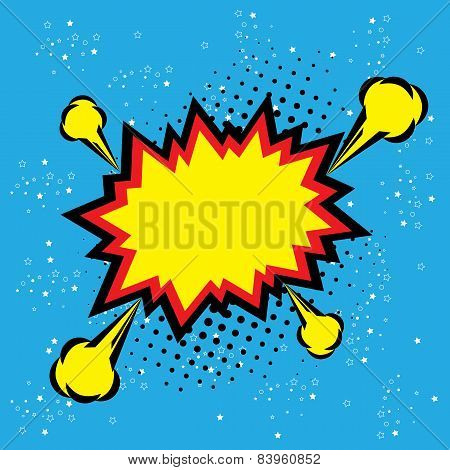Explosion Steam Bubble Pop-art Vector - Funny Funky Banner Comics  Background poster