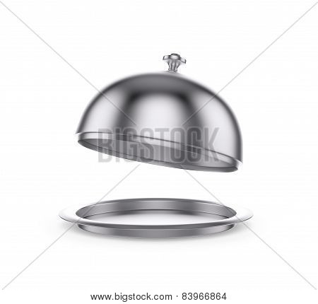 Open Restaurant Cloche On White Background