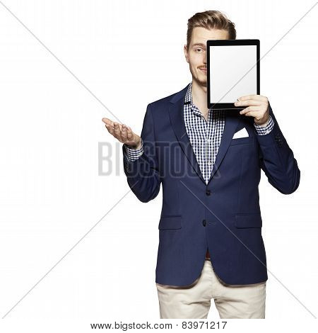Hide The Face Behind Digital Tablet