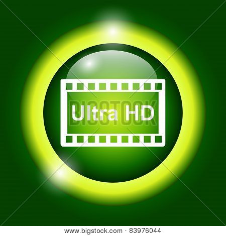 High Definition Design Over Green Background Vector Illustration