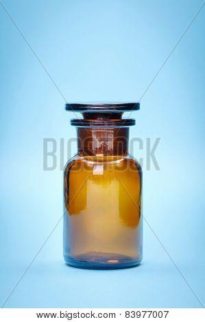 Brown Empty Glass Bottle