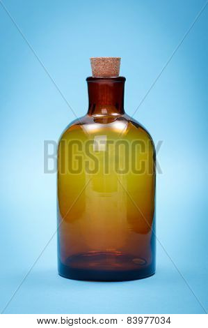 Brown Empty Glass Reagent Bottle