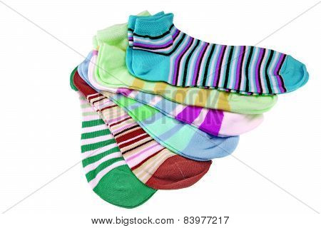 Many Striped Female Ankle Style Socks