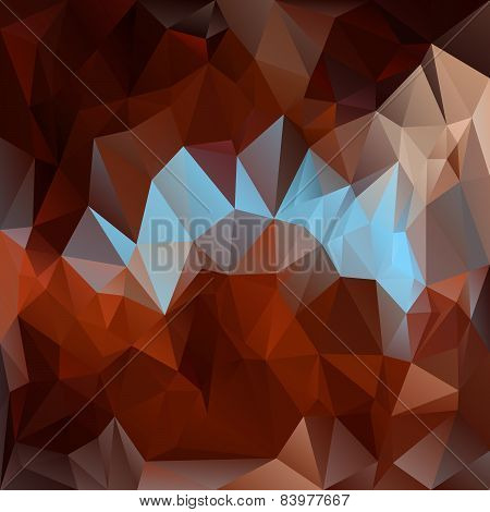 Vector Polygonal Background - Triangular Design In Dark Colors