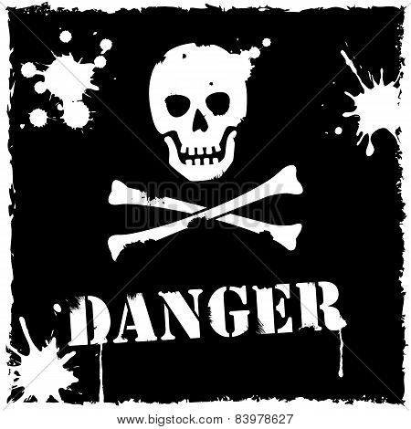 Vector Danger Icon Black And White