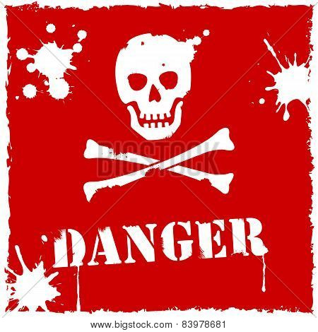 Vector Danger Icon Red And White